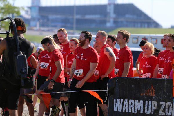 The team ready to run!