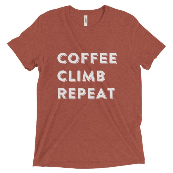 """Coffee, Climb, Repeat"" Tee"