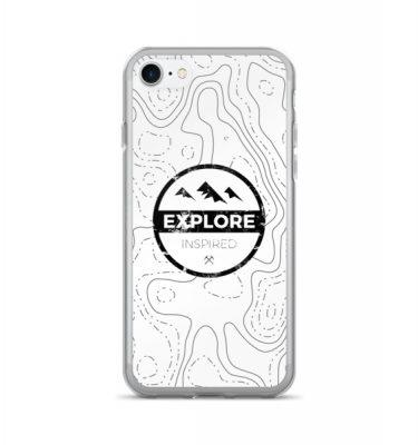 Topographic Logo iPhone 7/7 Plus Case – White