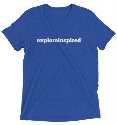 Explore Inspired Wordmark Logo Tee