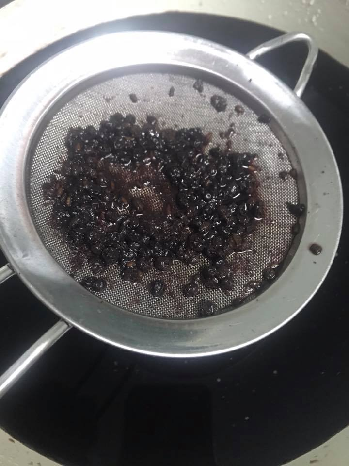 Process of Making Elderberry Syrup